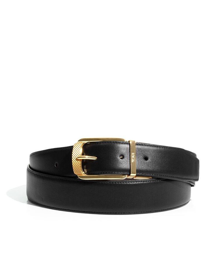 TUMI BELTS REV OS GOLD BUCKLE BELT  hi-res | TUMI